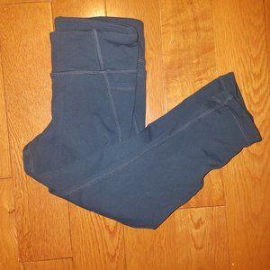 Athleta Girl Navy Cropped Mesh Side Leggings